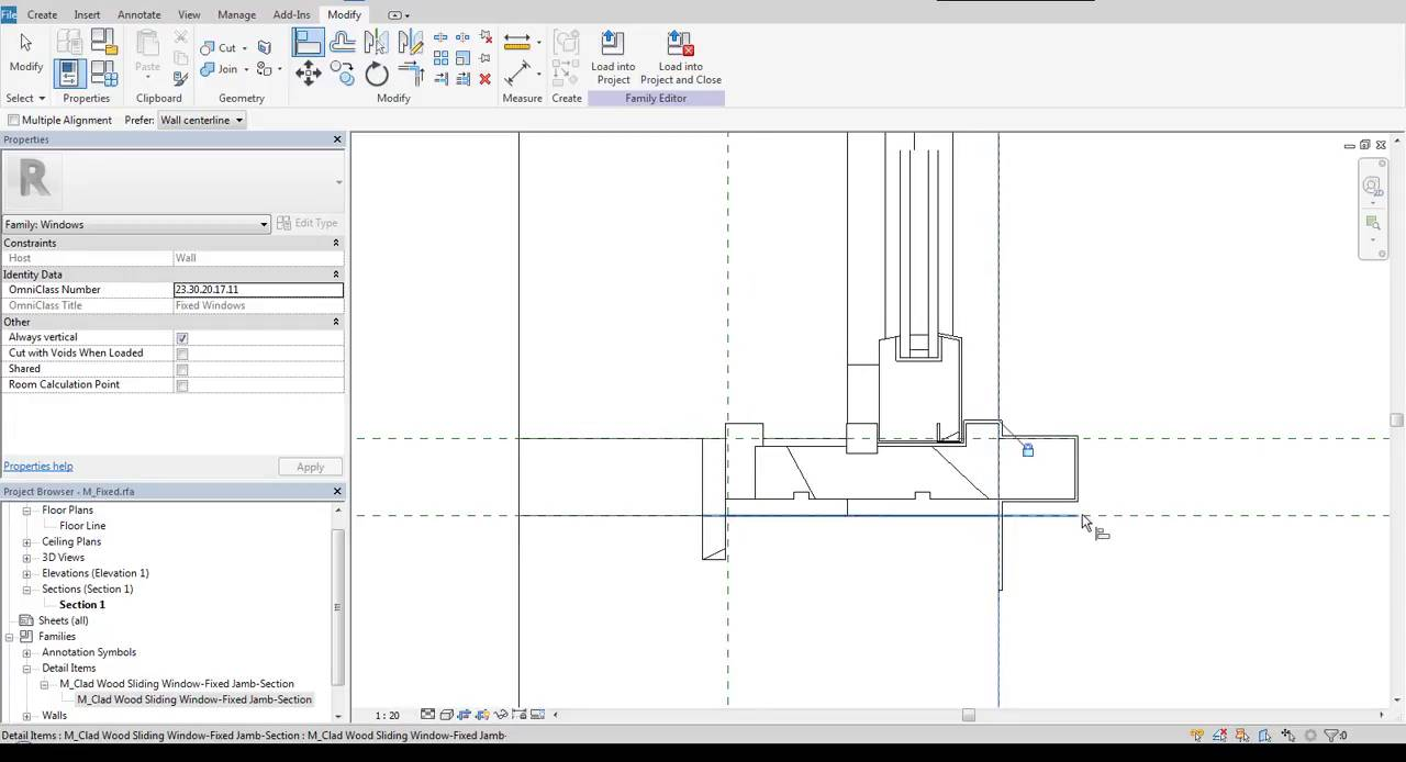 2D CAD detail in Revit Window family