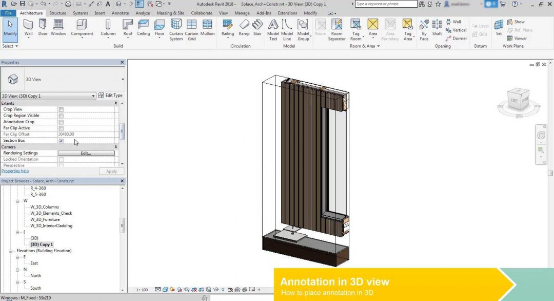 3d annotation in revit